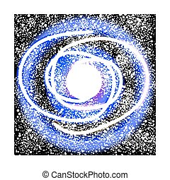 Space galaxy on white.
