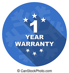 warranty guarantee 1 year blue flat design christmas winter...