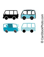 Van - Set of different style of van.