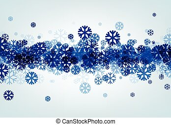 Winter background with blue snowflakes - Winter background...