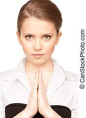 praying teenage girl - picture of praying teenage girl over...
