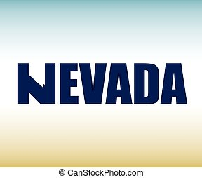 The Nevada shape is within the text - The Nevada shape is...