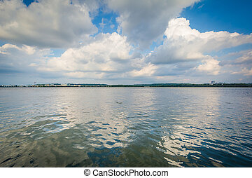 The Potomac River, in Alexandria, Virginia.