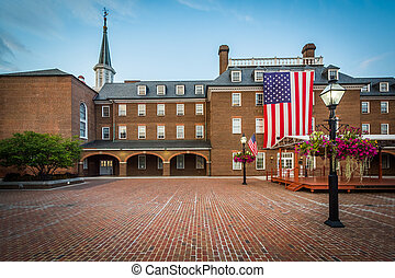 Market Square and City Hall, in Old Town, Alexandria, Virginia.
