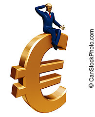 businessman on euro
