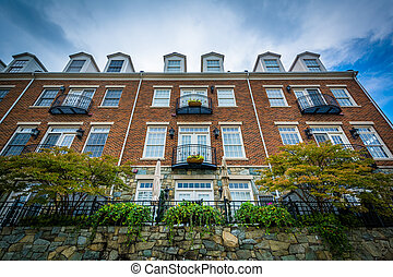 Apartment building in Alexandria, Virginia.