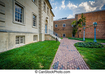 The Carlyle House, in the Old Town of Alexandria, Virginia.