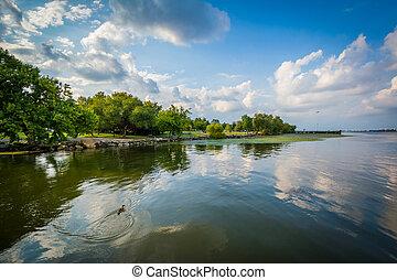 The Potomac River, in Alexandria, Virginia
