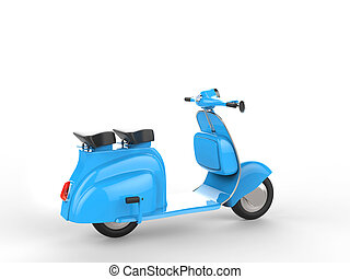 Sky blue stylish scooter