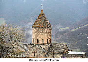 Ancient monastery Tatev in Armenia - Ancient monastery Tatev...