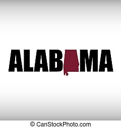 The Alabama shape is within the Alabama name in this state...