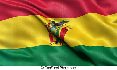 Bolivia flag seamless loop - Seamless loop of Bolivia flag...