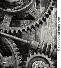 The Machine - Part of an old machine gear somewhere in the...