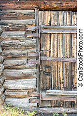 old wooden gate - brown old wooden gate closeup