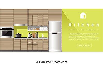 내부, 집, 장면, 냉장고 - 냉장고, 내부, 집, 장면 csp8453221의 클립 ...