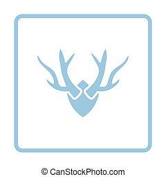 Deers antlers icon Blue frame design Vector illustration...