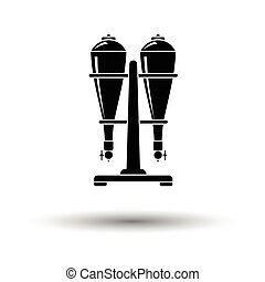 Soda siphon equipment icon. White background with shadow...