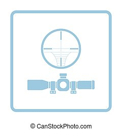Scope icon. Blue frame design. Vector illustration.