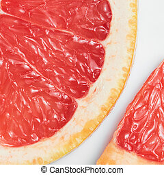 Abstract red background with citrus-fruit