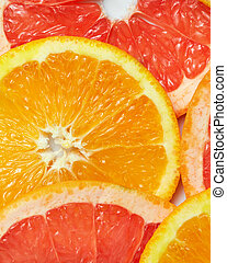 background with citrus-fruit of Fresh  slices