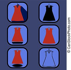 Dress icons set
