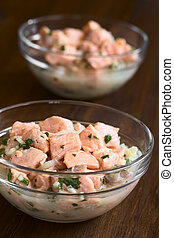 Chilean Salmon Ceviche - Chilean salmon ceviche prepared...