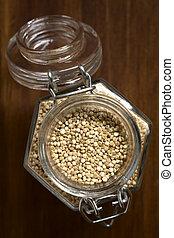 crudo, Quinoa, granos