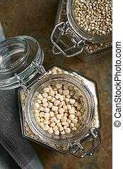 hecho estallar, Quinoa, cereal, y, crudo, Quinoa