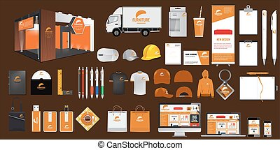 Set of Corporate identity and stationery elements. Vector...