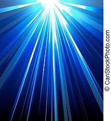 blue background abstract rays of li - Blue background...