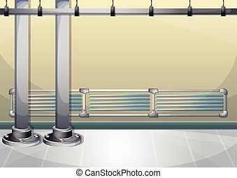 cartoon vector illustration water pipe wall with separated...