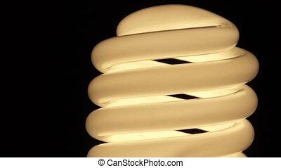 White light bulb in the dark