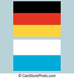 Official national flag of Germany and Bavaria background...