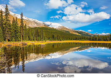 The mountains  in Canada