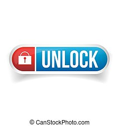Unlock button vector