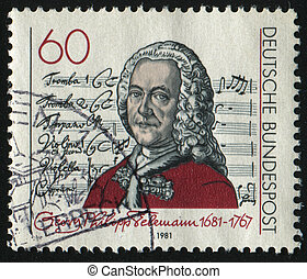 postmark - GERMANY- CIRCA 1981: stamp printed by Germany,...