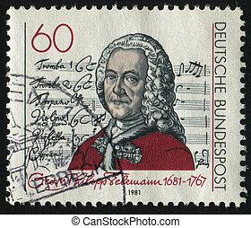 postmark - GERMANY- CIRCA 1981: stamp printed by Germany,...