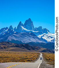 Fine majestic Mount Fitz Roy - Argentine Patagonia Sunny day...