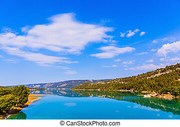 Mountain canyon Verdon in Alps - Mountain canyon Verdon in...