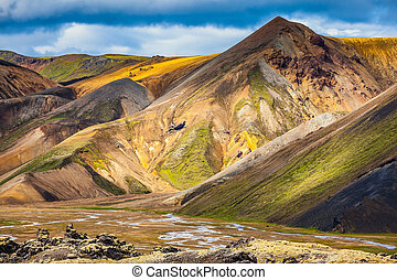 Multi-colored mountains from mineral rhyolite - Travel to...