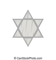 Star Of David icon, black monochrome style - Star Of David...