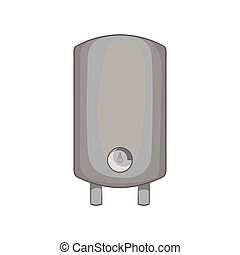 Water heater icon, black monochrome style - Water heater...
