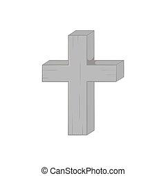 Cross icon, black monochrome style - Cross icon in black...
