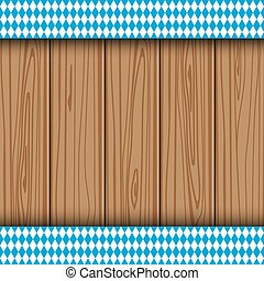 Texture of the Bavarian flag on the background of the wooden...