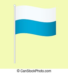 Official national flag of Bavaria background vector...