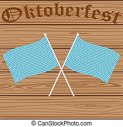 Oktoberfest Bavarian flag symbol background on the...