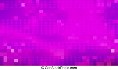 Magenta dots and squares loop - Geometric abstract animated...