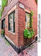 Acorn Street - Boston, Massachusetts - Acorn Street in...