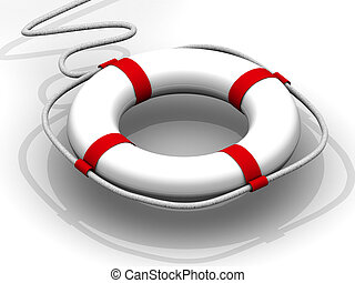 life preserver for first help 3d
