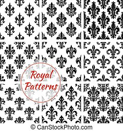 Royal french lily seamless pattern backgrounds